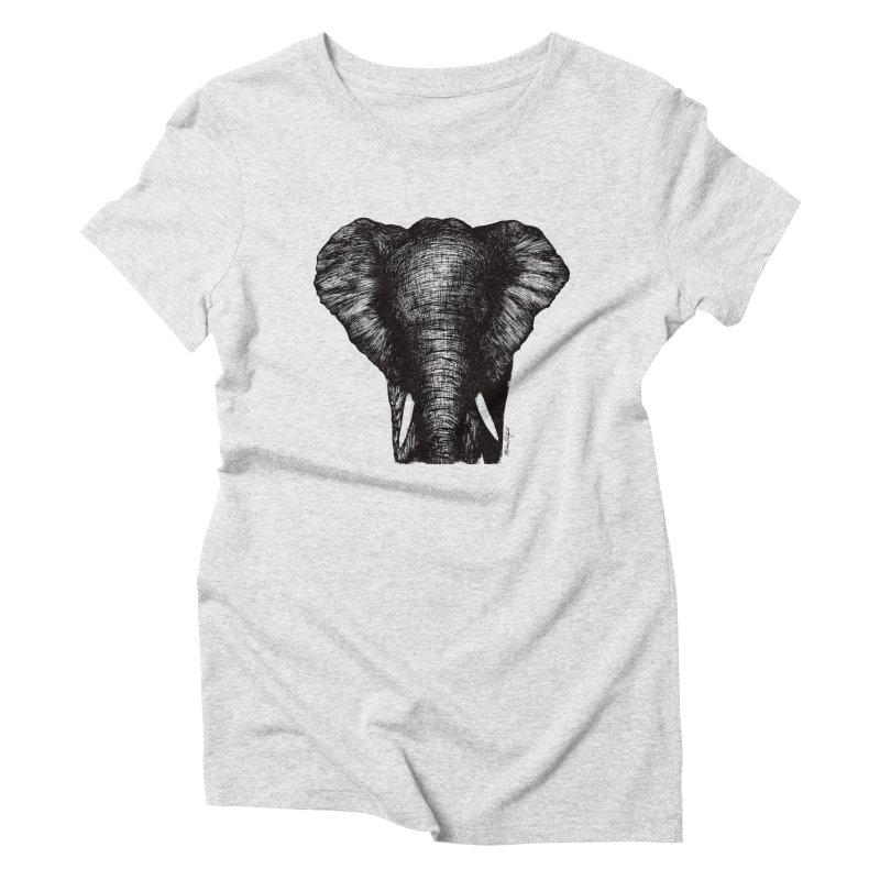 African Elephant Women's Triblend T-Shirt by Mike Petzold's Artist Shop