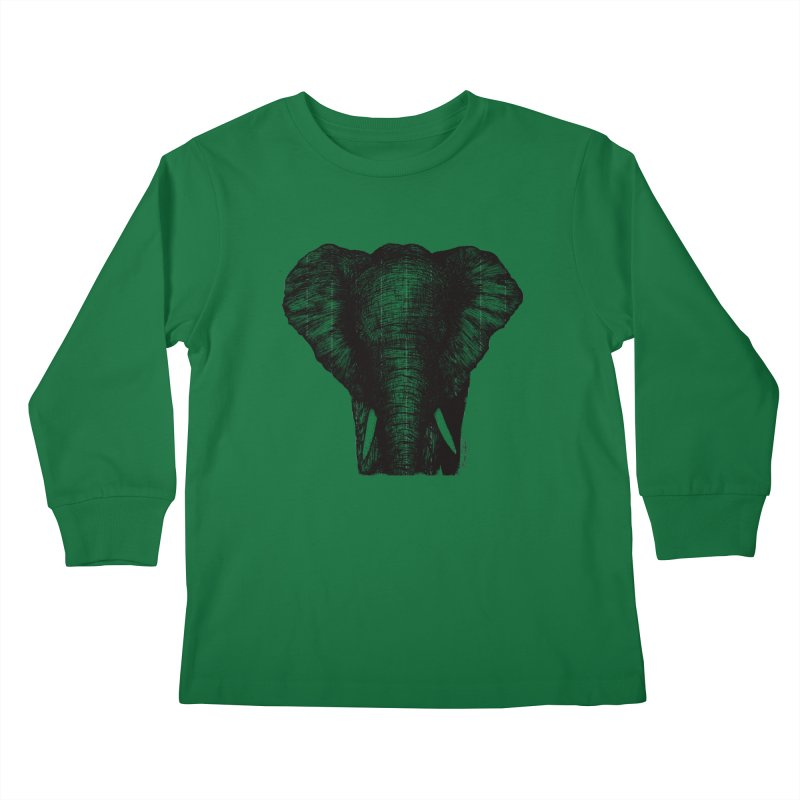 African Elephant Kids Longsleeve T-Shirt by Mike Petzold's Artist Shop