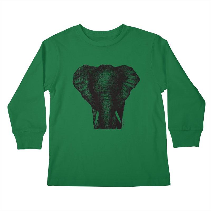 African Elephant Kids Longsleeve T-Shirt by Mike Petzold's Artist Shop