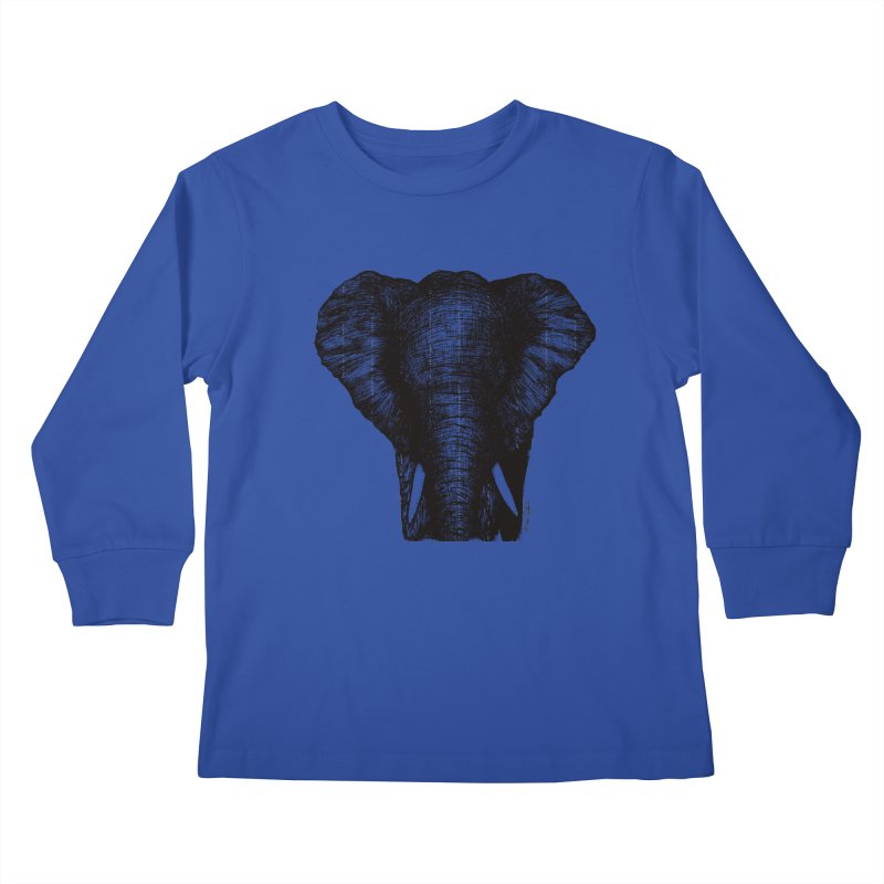 African Elephant Kids Longsleeve T-Shirt by MikePetzold's Artist Shop