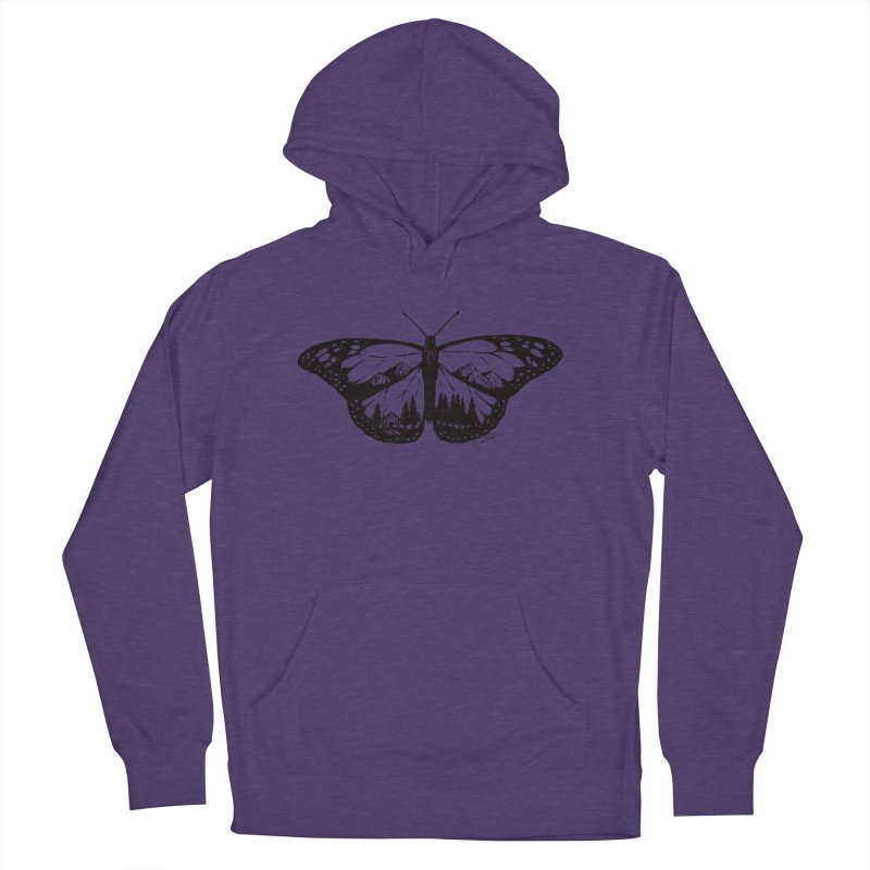 Mountain Monarch Men's French Terry Pullover Hoody by Mike Petzold's Artist Shop