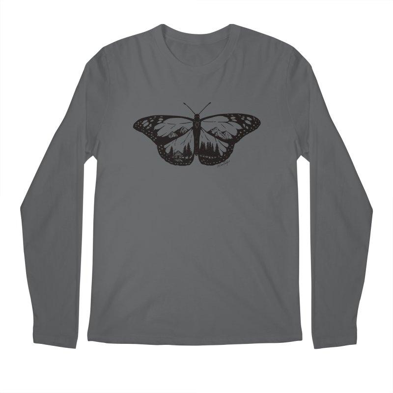 Mountain Monarch Men's Regular Longsleeve T-Shirt by Mike Petzold's Artist Shop
