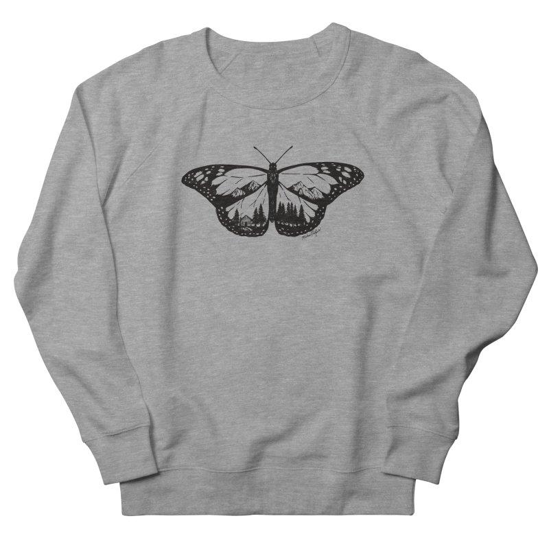 Mountain Monarch Women's French Terry Sweatshirt by Mike Petzold's Artist Shop