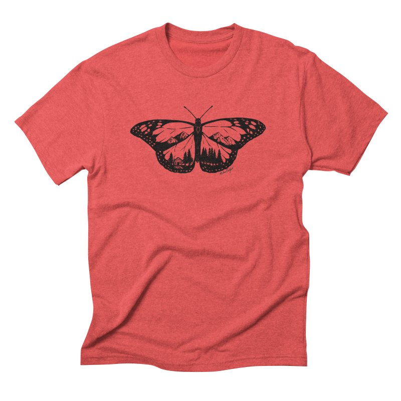 Mountain Monarch Men's Triblend T-Shirt by MikePetzold's Artist Shop