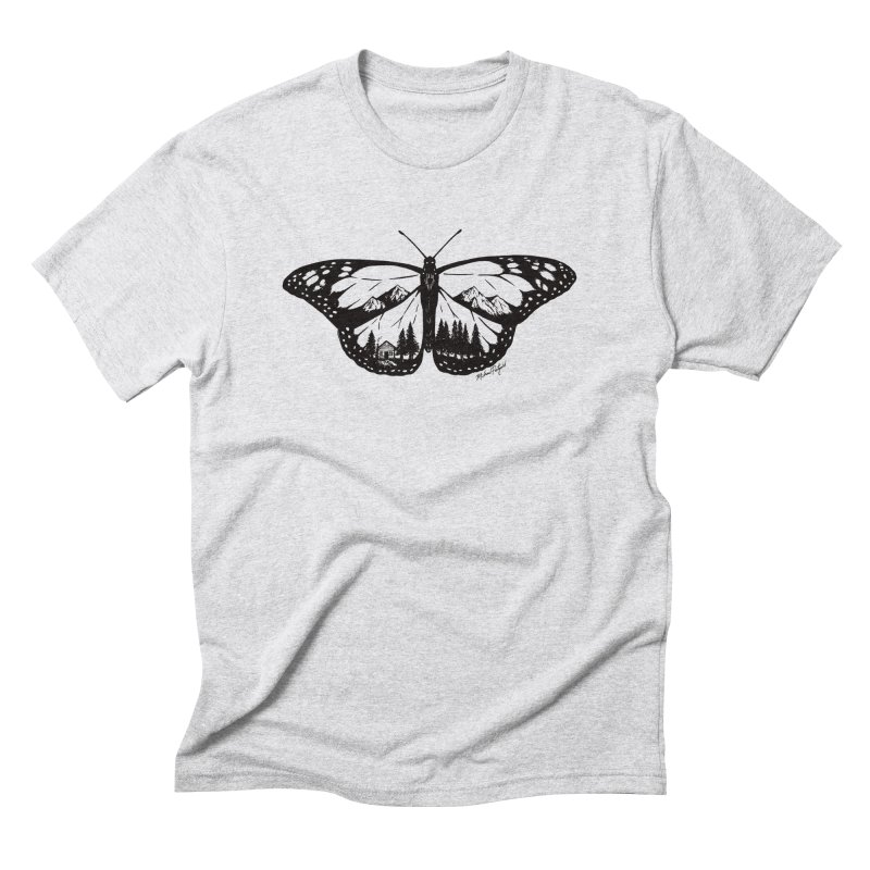 Mountain Monarch Men's Triblend T-Shirt by Mike Petzold's Artist Shop