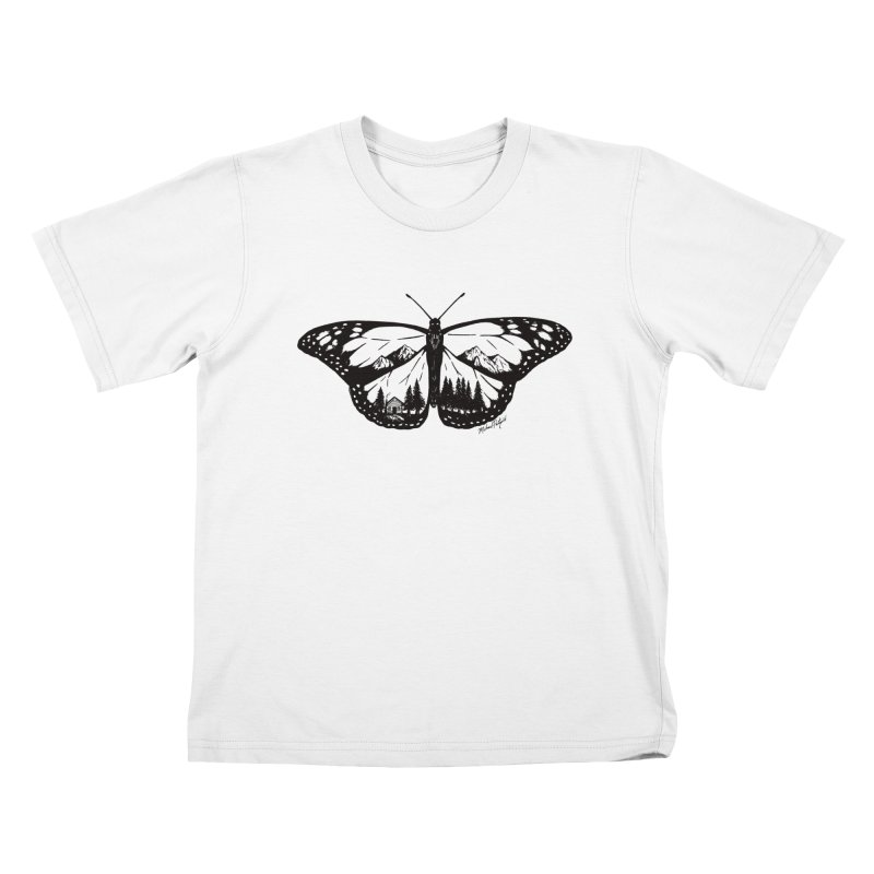 Mountain Monarch Kids T-Shirt by MikePetzold's Artist Shop