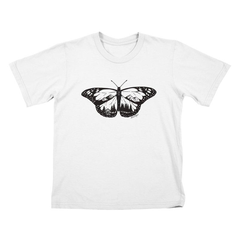 Mountain Monarch Kids T-Shirt by Mike Petzold's Artist Shop