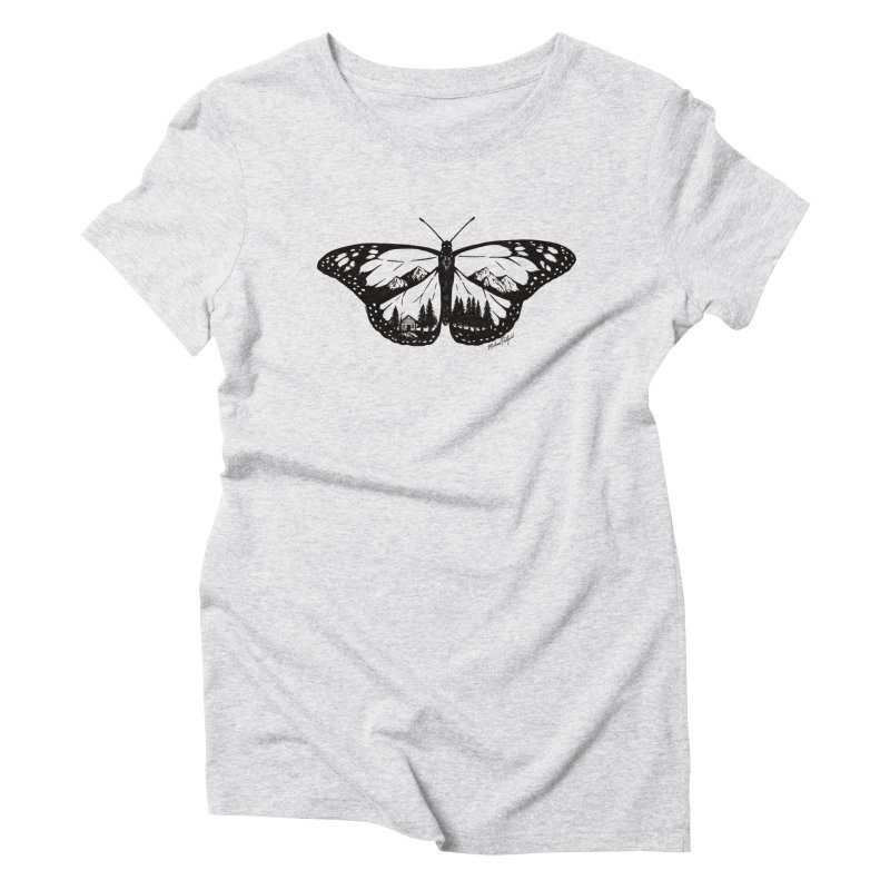 Mountain Monarch Women's T-Shirt by Mike Petzold's Artist Shop