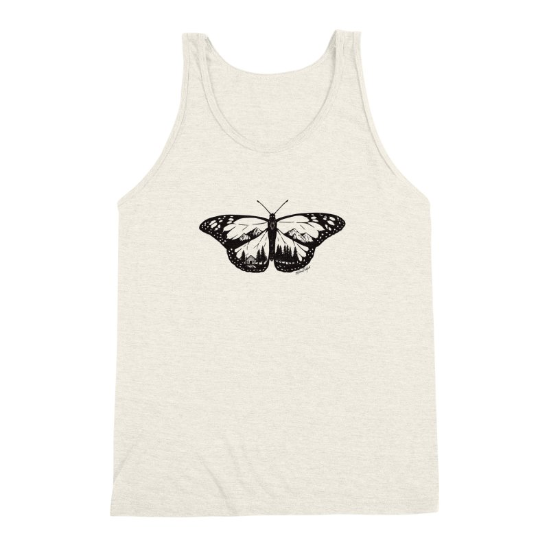 Mountain Monarch Men's Triblend Tank by MikePetzold's Artist Shop