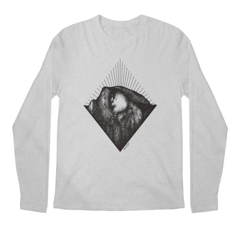 Half Dome Men's Regular Longsleeve T-Shirt by Mike Petzold's Artist Shop