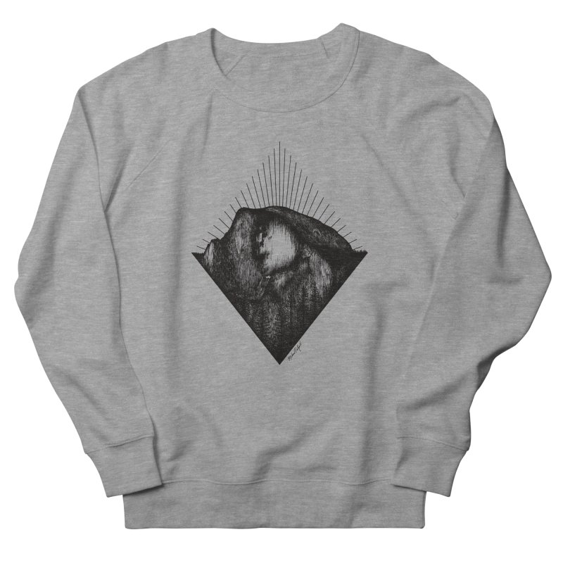 Half Dome Men's French Terry Sweatshirt by Mike Petzold's Artist Shop