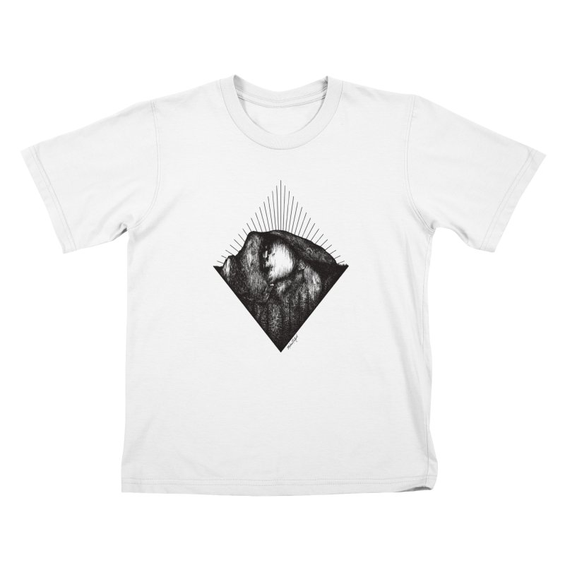 Half Dome Kids T-Shirt by Mike Petzold's Artist Shop