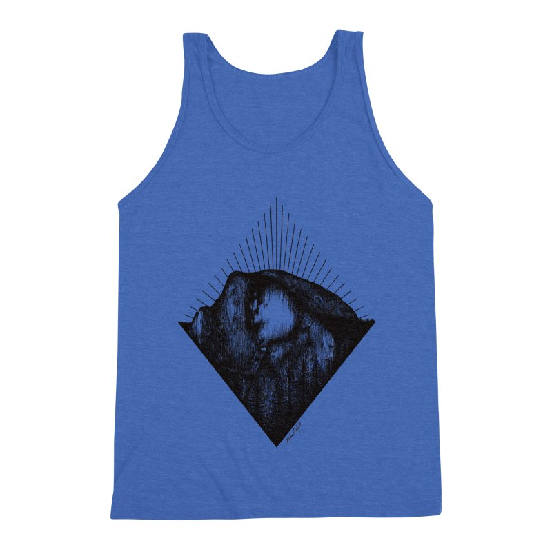 Half Dome Men's Triblend Tank by Mike Petzold's Artist Shop