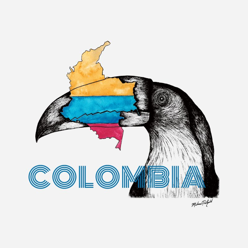 Colombia Travel Men's Longsleeve T-Shirt by Mike Petzold's Artist Shop