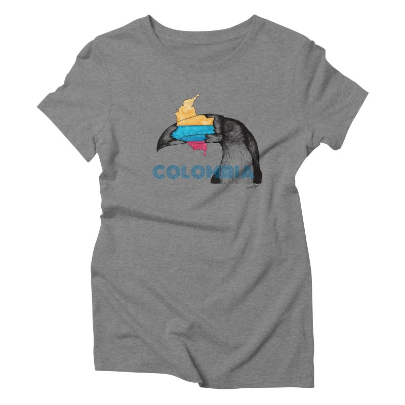 Colombia Travel Women's Triblend T-Shirt by Mike Petzold's Artist Shop