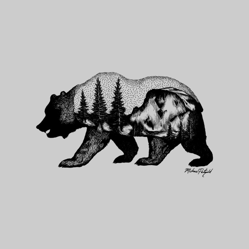 Bear of Yosemite Men's T-Shirt by Mike Petzold's Artist Shop