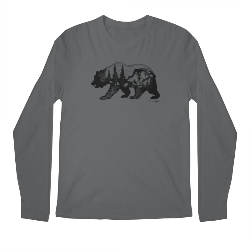 Bear of Yosemite Men's Longsleeve T-Shirt by Mike Petzold's Artist Shop