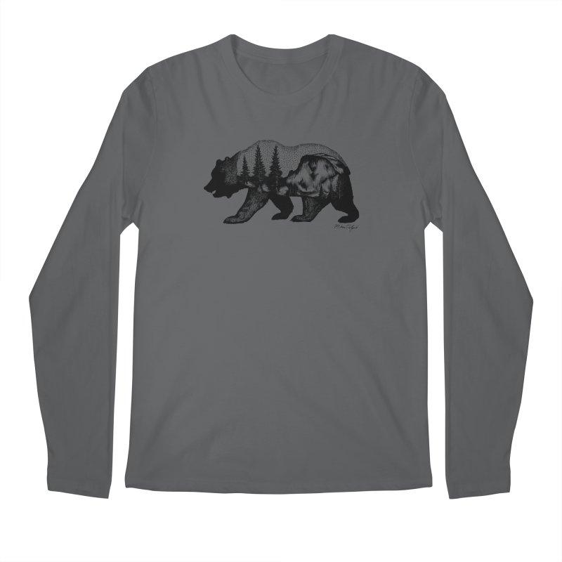 Bear of Yosemite Men's Regular Longsleeve T-Shirt by Mike Petzold's Artist Shop