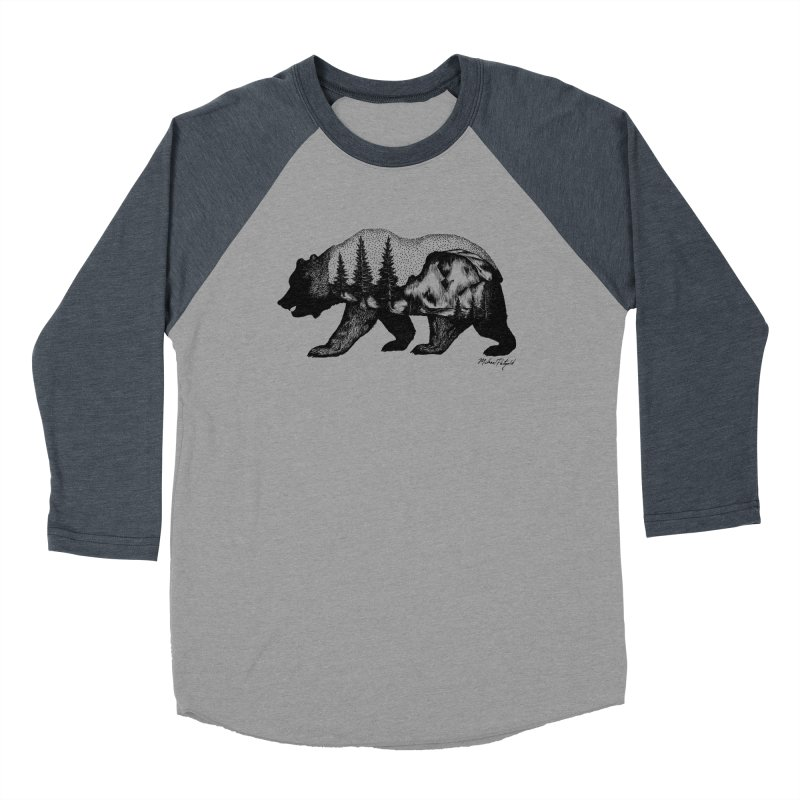 Bear of Yosemite Women's Baseball Triblend Longsleeve T-Shirt by Mike Petzold's Artist Shop
