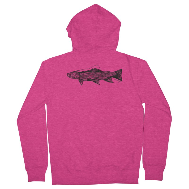 On The Water Women's French Terry Zip-Up Hoody by Mike Petzold's Artist Shop