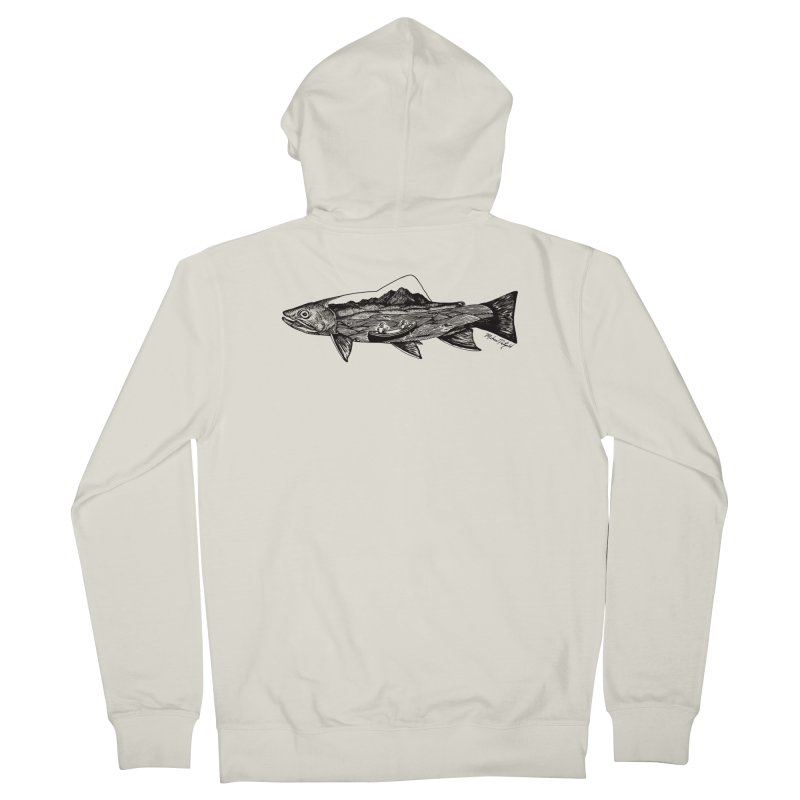 On The Water Women's French Terry Zip-Up Hoody by MikePetzold's Artist Shop