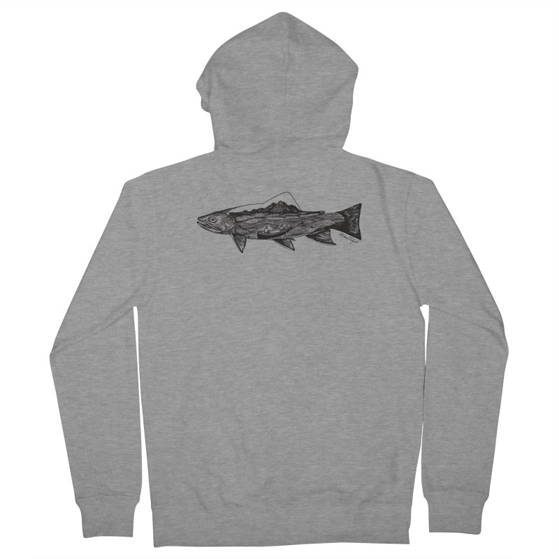 On The Water Men's French Terry Zip-Up Hoody by MikePetzold's Artist Shop