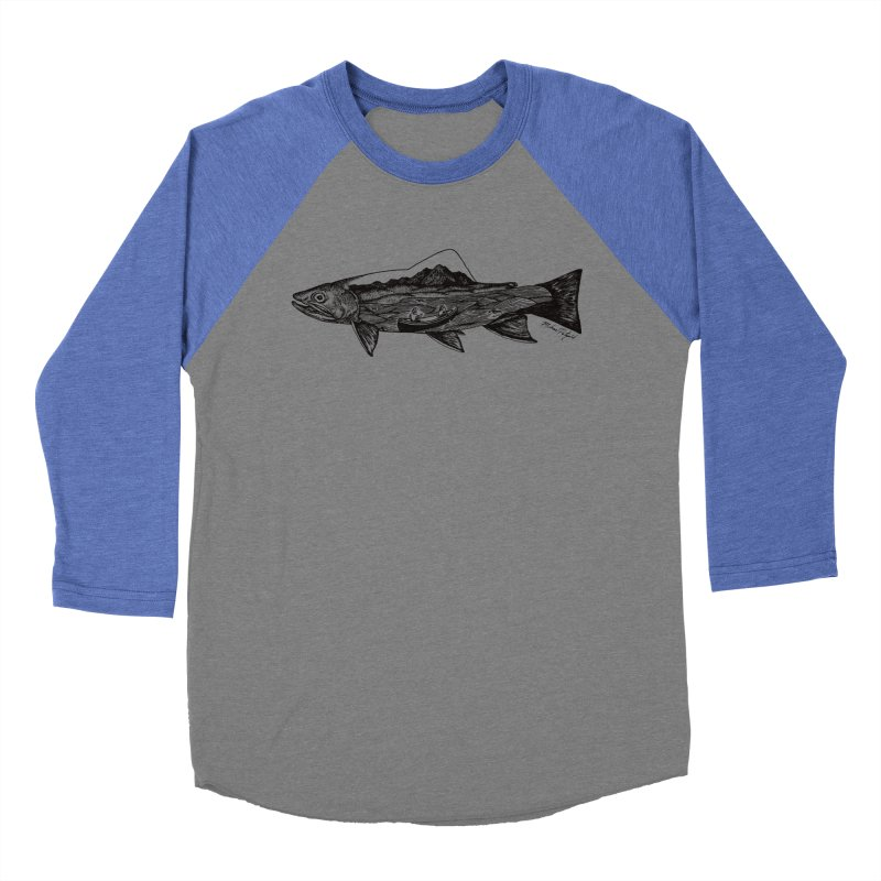 On The Water Women's Baseball Triblend Longsleeve T-Shirt by Mike Petzold's Artist Shop