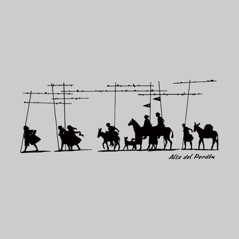 Camino de Santiago - Alto del Perdón Men's T-Shirt by Mike Petzold's Artist Shop