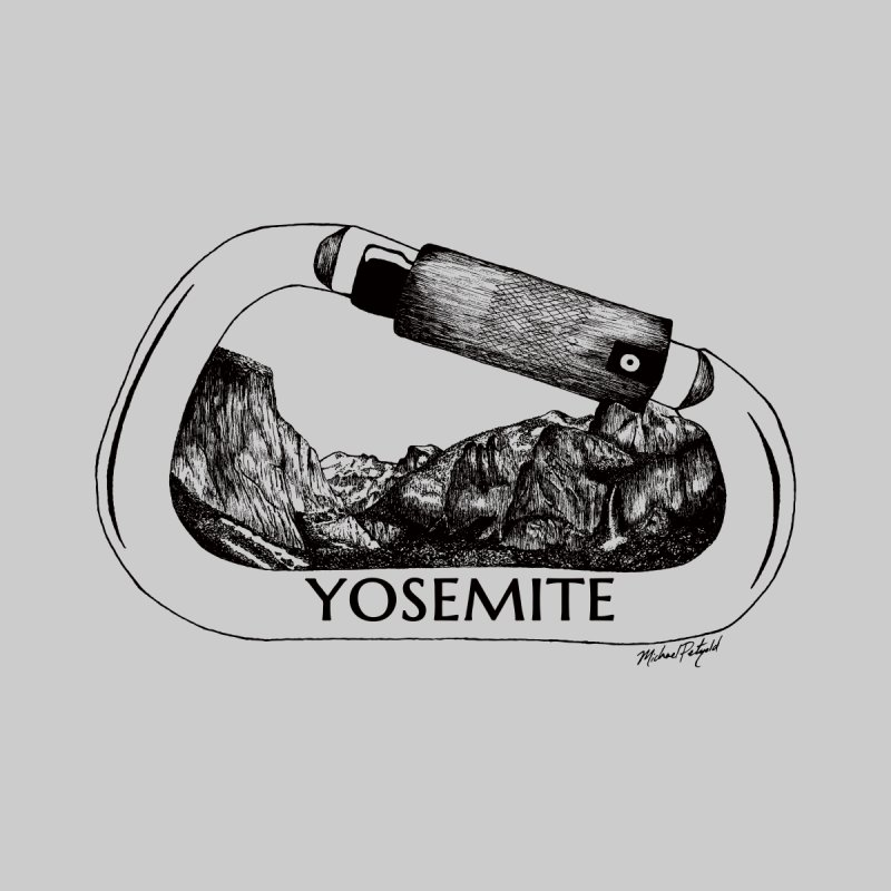 Climb Yosemite Men's T-Shirt by Mike Petzold's Artist Shop