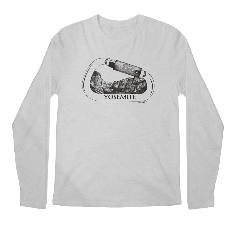 Climb Yosemite Men's Longsleeve T-Shirt by Mike Petzold's Artist Shop