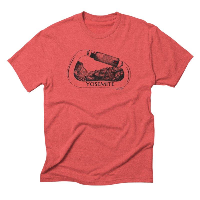 Climb Yosemite Men's T-Shirt by Mike Petzold's Artist Shop
