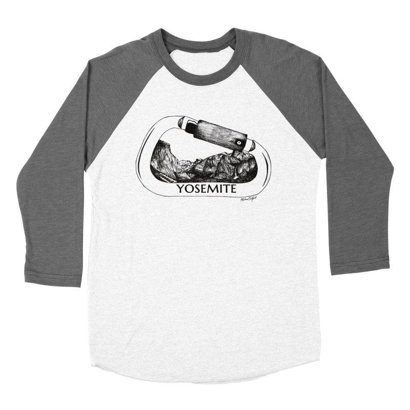 Climb Yosemite Women's Baseball Triblend Longsleeve T-Shirt by Mike Petzold's Artist Shop