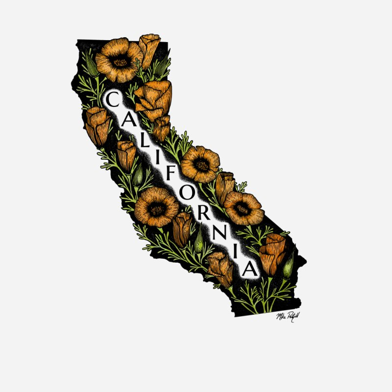 CA Poppy Kids T-Shirt by Mike Petzold's Artist Shop