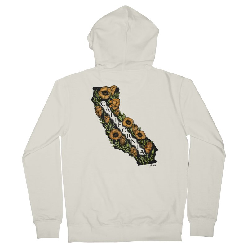 CA Poppy Men's French Terry Zip-Up Hoody by Mike Petzold's Artist Shop