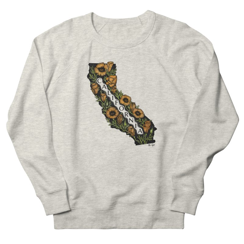 CA Poppy Women's French Terry Sweatshirt by Mike Petzold's Artist Shop