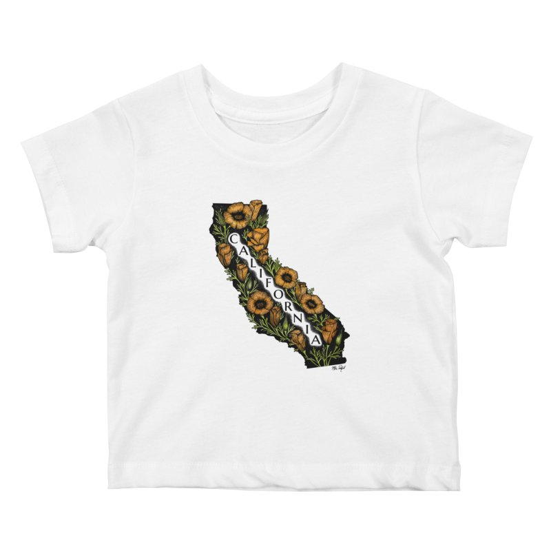 CA Poppy Kids Baby T-Shirt by Mike Petzold's Artist Shop