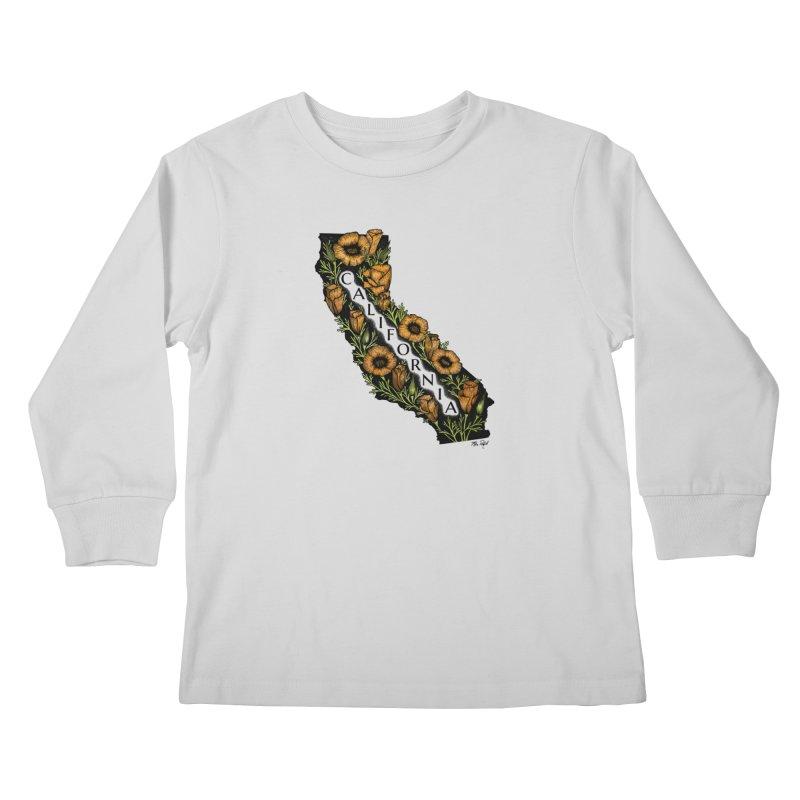 CA Poppy Kids Longsleeve T-Shirt by Mike Petzold's Artist Shop