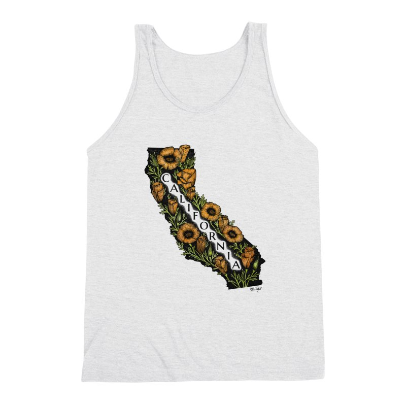 CA Poppy Men's Triblend Tank by Mike Petzold's Artist Shop