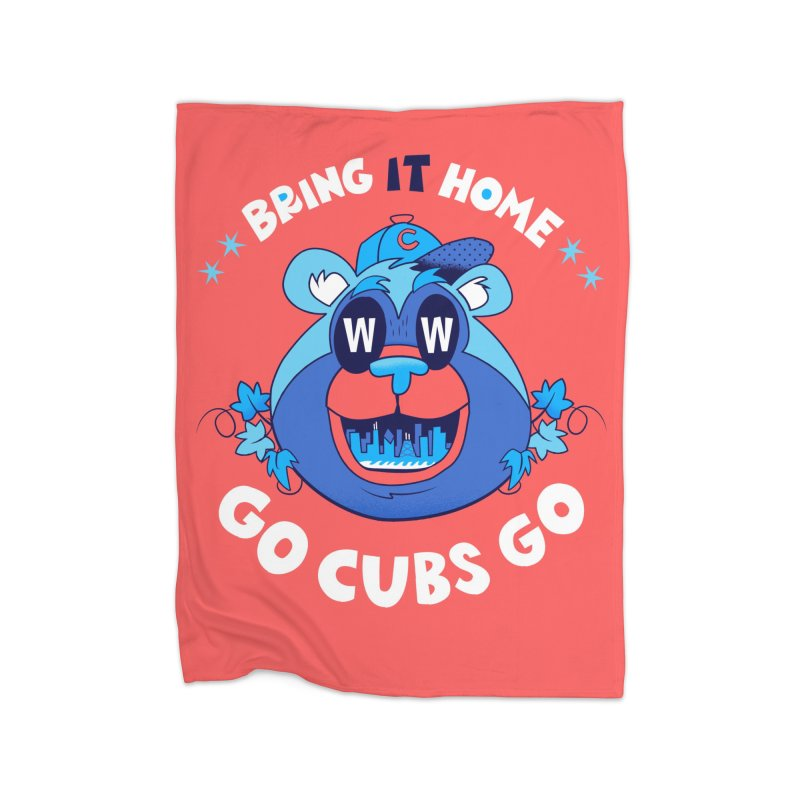 GO CUBS GO  Home Blanket by Mike Dornseif's Artist Shop