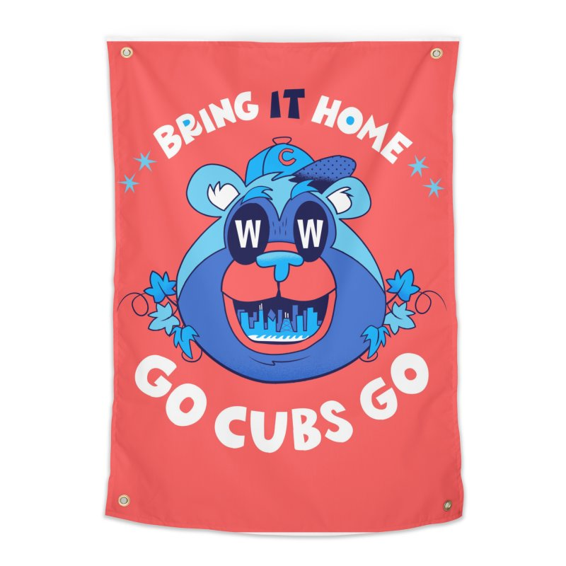 GO CUBS GO  Home Tapestry by Mike Dornseif's Artist Shop