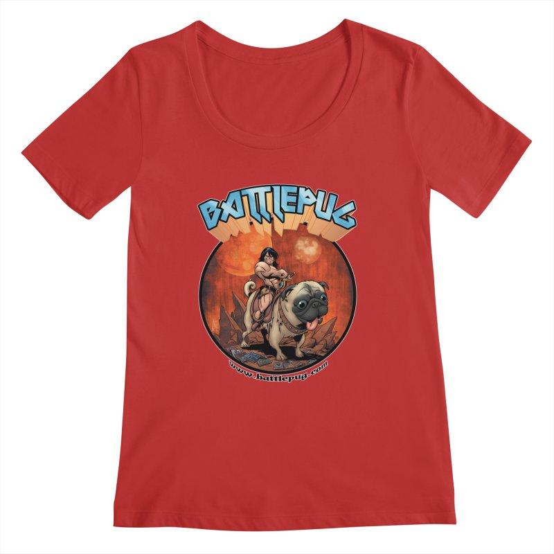 Battlepug OG tee Women's Regular Scoop Neck by THE BATTLEPUG STORE!