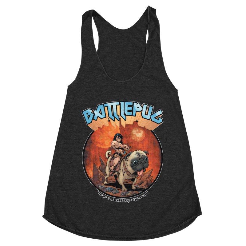 Battlepug OG tee Women's Racerback Triblend Tank by THE BATTLEPUG STORE!