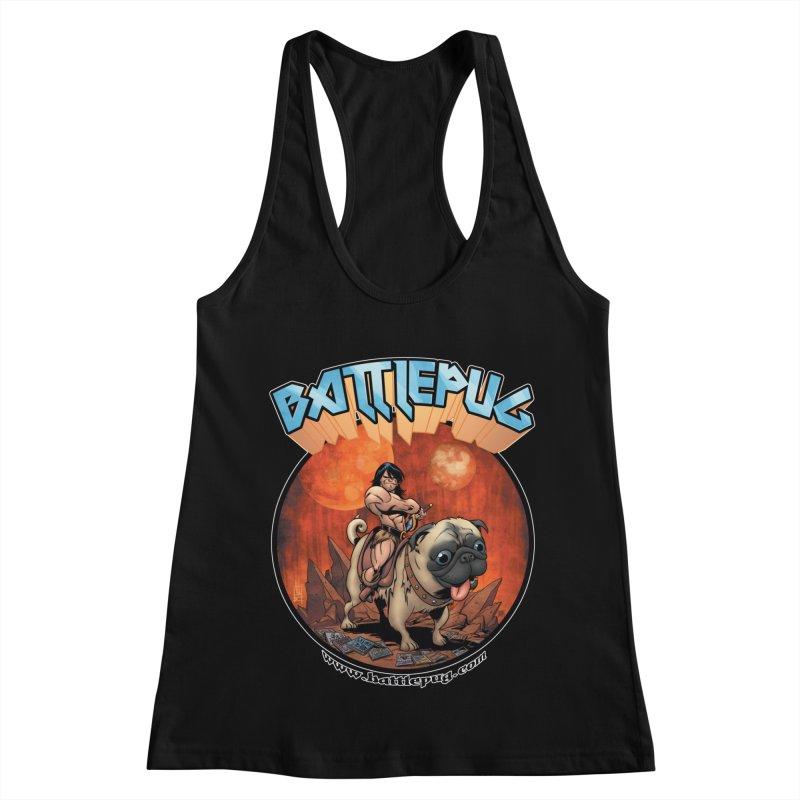 Battlepug OG tee Women's Racerback Tank by THE BATTLEPUG STORE!