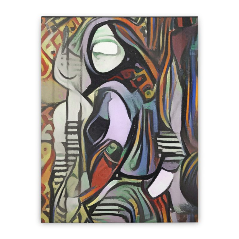 Confident Woman Picasso Style Wall Art Home Stretched Canvas by Milliondollarart's Artist Shop