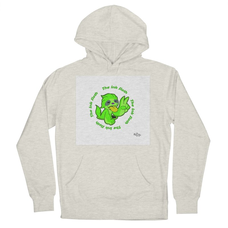 The Ink Sloth (Standard Logo) Men's French Terry Pullover Hoody by MillsburyMedia's Artist Shop