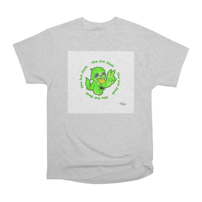 The Ink Sloth (Standard Logo) Men's Heavyweight T-Shirt by MillsburyMedia's Artist Shop
