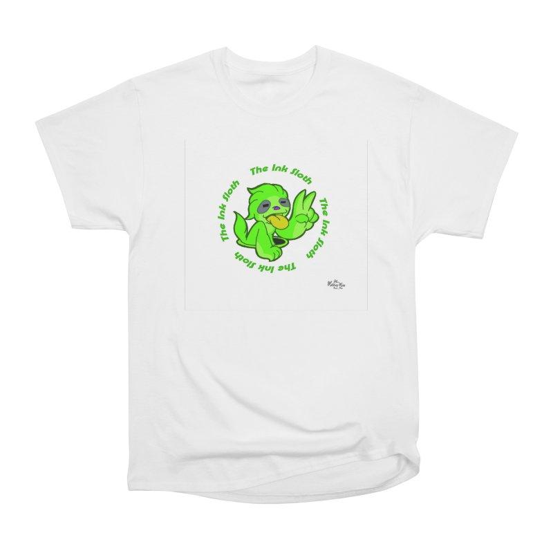 The Ink Sloth (Standard Logo) Women's Heavyweight Unisex T-Shirt by MillsburyMedia's Artist Shop