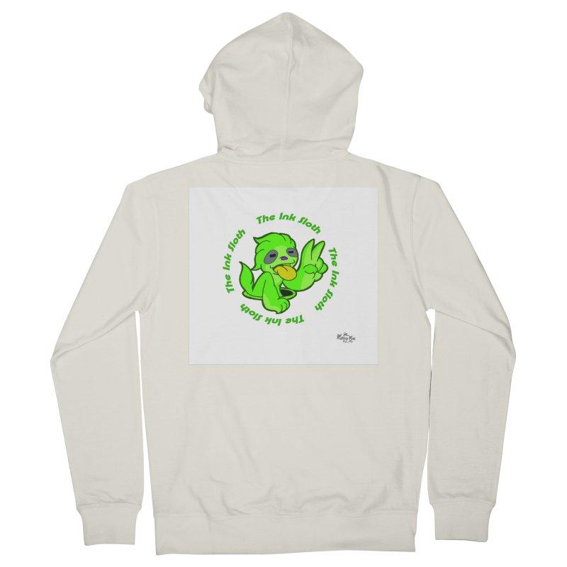 The Ink Sloth (Standard Logo) Women's French Terry Zip-Up Hoody by MillsburyMedia's Artist Shop