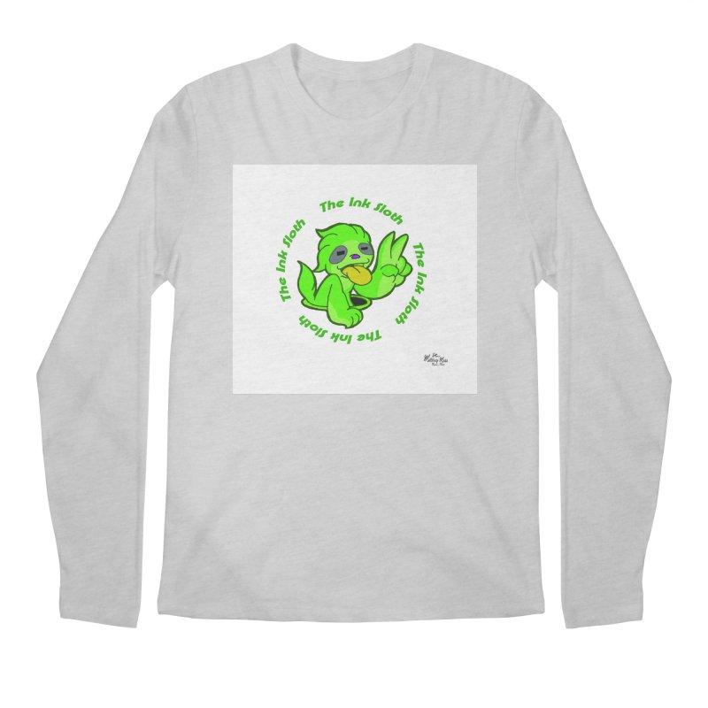 The Ink Sloth (Standard Logo) Men's Regular Longsleeve T-Shirt by MillsburyMedia's Artist Shop