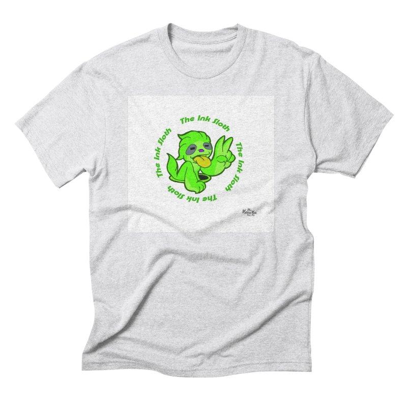 The Ink Sloth (Standard Logo) Men's Triblend T-Shirt by MillsburyMedia's Artist Shop